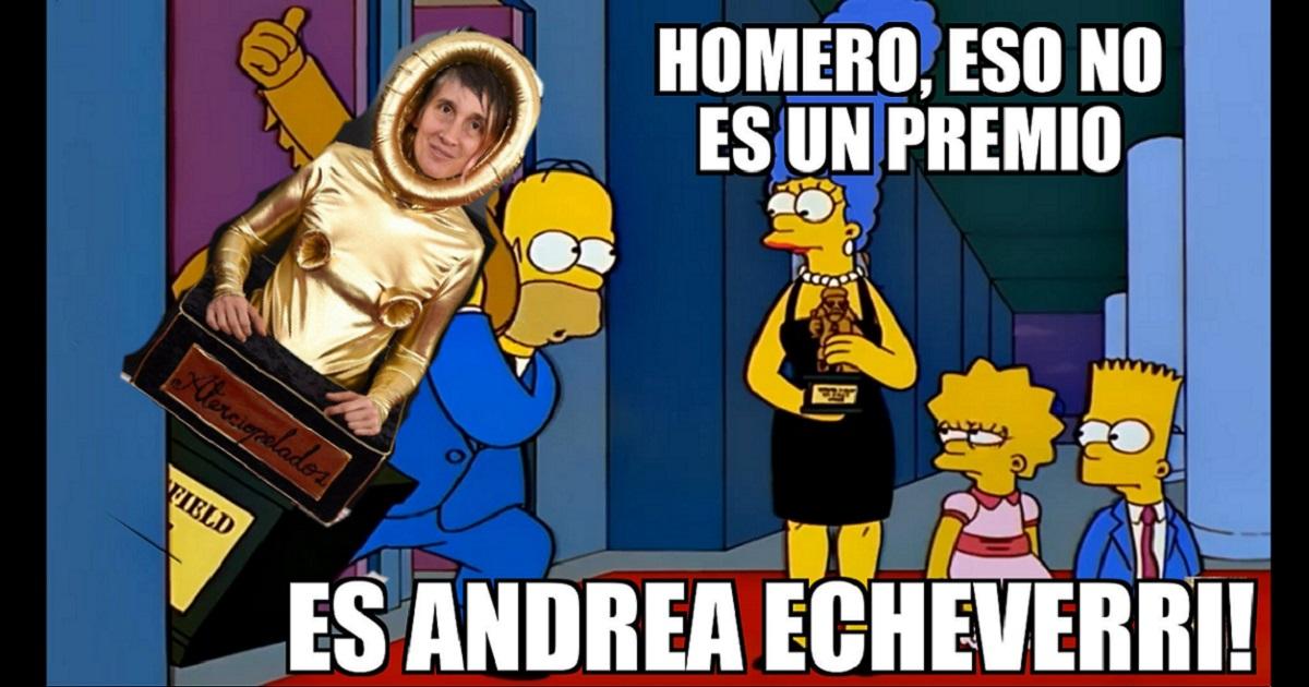 Hasta memes le hicieron a Andrea Echeverri por su traje en los Grammy