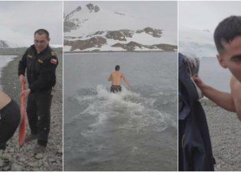 bautizo antartico ritual marinos en la antartida