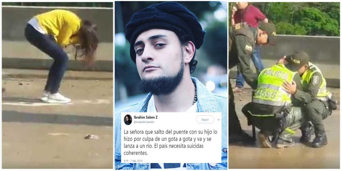 ibrahim salem chiste tragedia madre suicida ibague twitter
