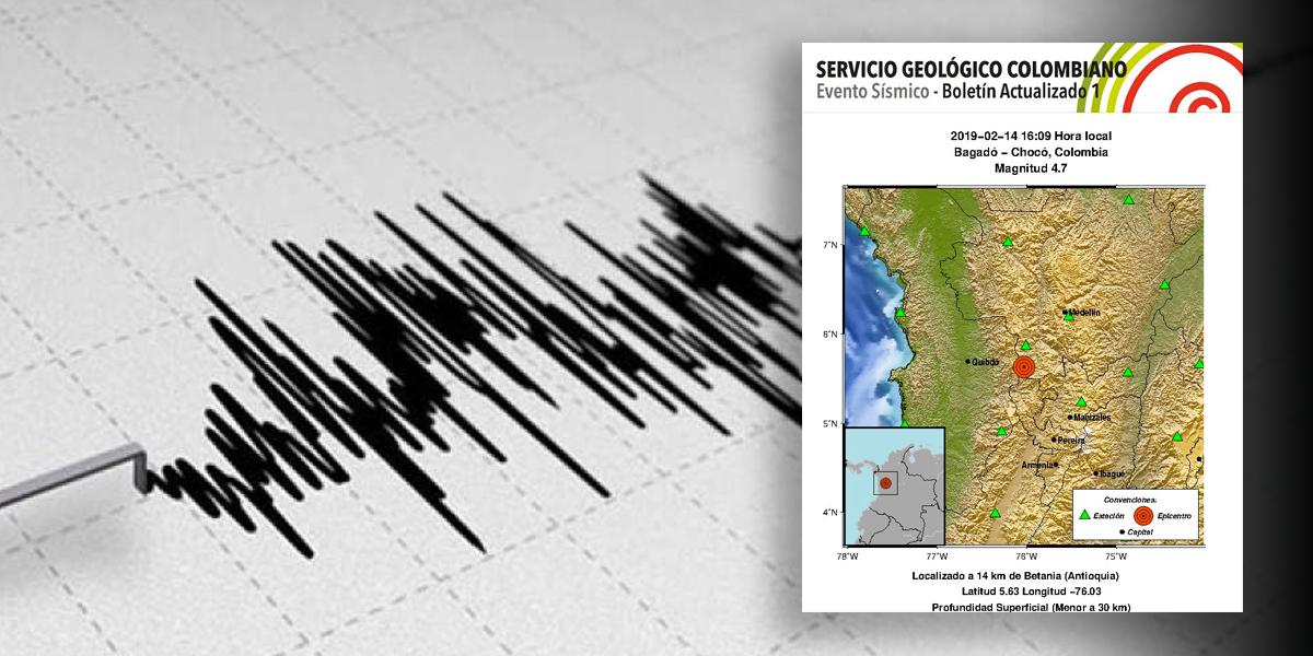 Se registra un sismo de 4,7 cerca de Medellín — Colombia
