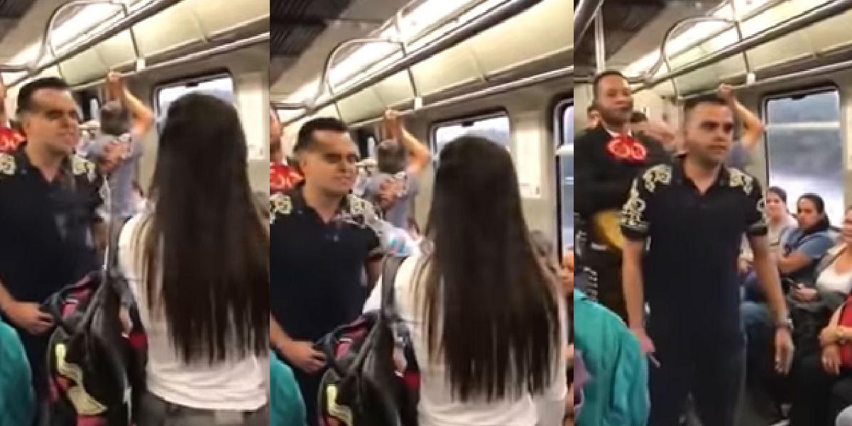 Le lleva serenata al metro pero recibe una fría sorpresa
