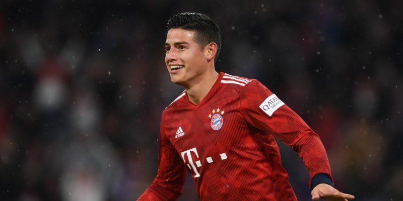 James marcó tripleta en la goleada del Bayern al Mainz