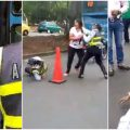 video golpiza mujeres policias cali