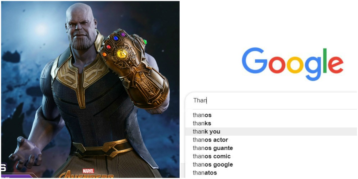 Google thanos avengers guante chasquido busquedas