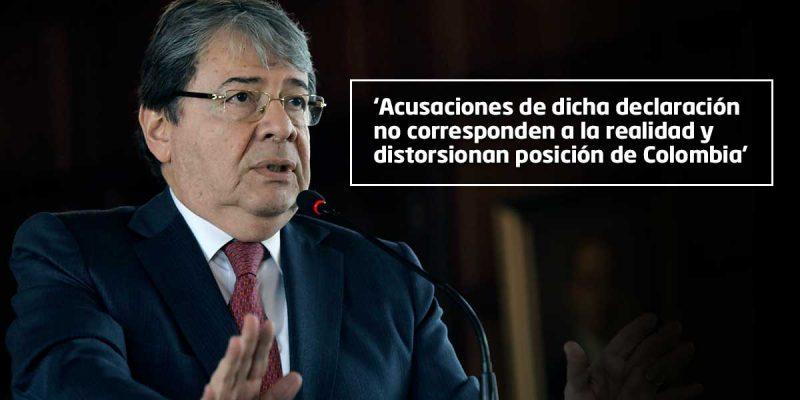 Colombia interpretó mal la carta sobre Venezuela: embajada rusa