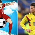 james rodriguez super campeones dibujo 1