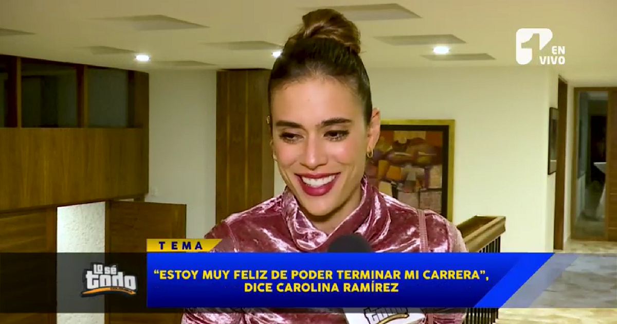 Carolina Ramírez por fin se graduará de la universidad