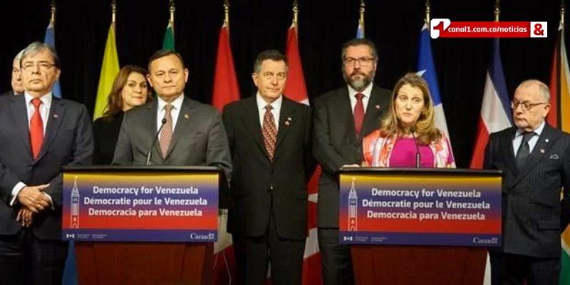 Grupo de Lima discutirá crisis en Venezuela la próxima semana: canciller canadiense