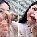 little seven quiso comerse pulpo y ataco su cara