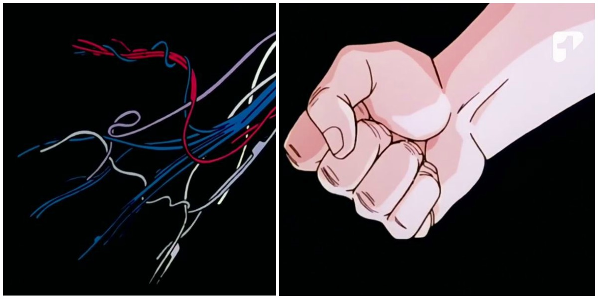 mano con cables opening dragon ball z androides