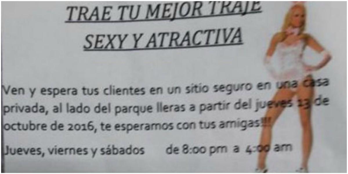 volante prostitucion universitarias medellin