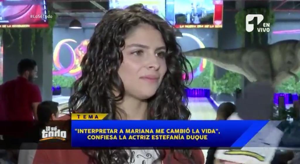 """""""Interpretar a Mariana me cambió la vida"""": Estefanía Duque"""