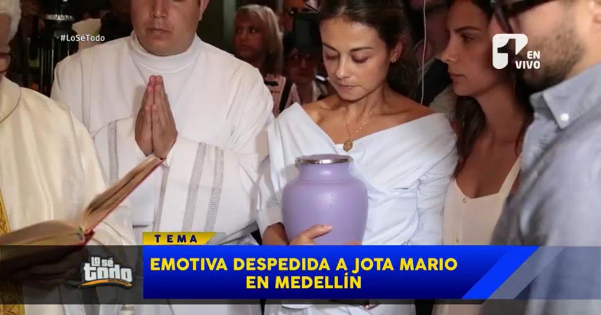 Así se llevó a cabo el emotivo último adiós a Jota Mario en Medellín