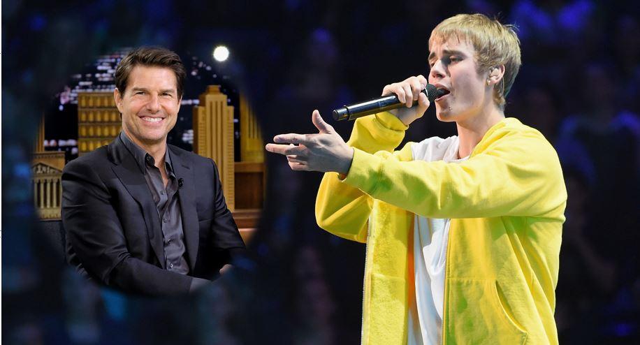 Justin Bieber retó a Tom Cruise a pelear en un octágono de artes marciales mixtas