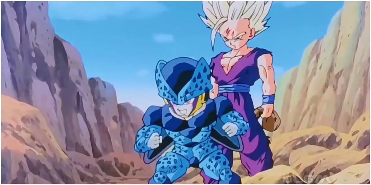 gohan vs cell junior 2