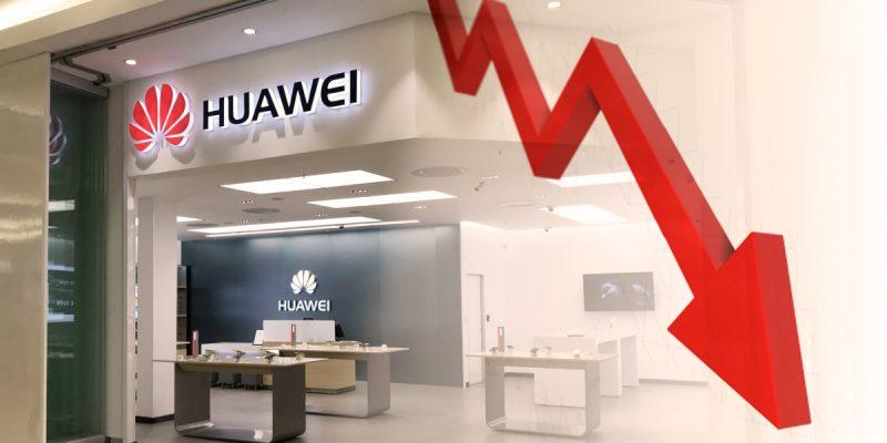 Ventas internacionales de Huawei cayeron 40% este año