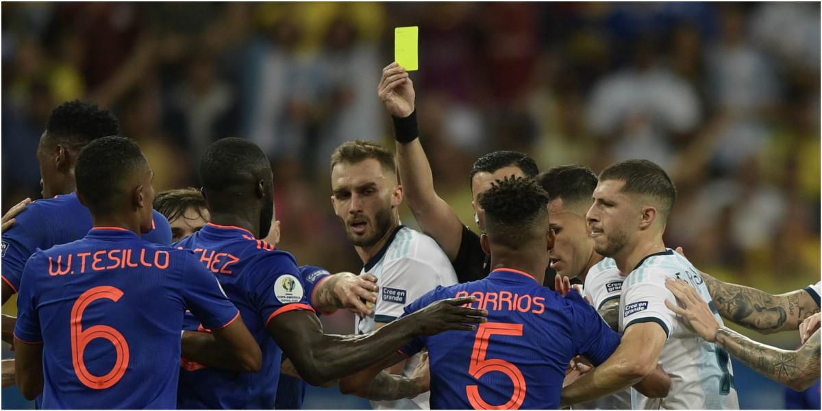 pelea colombia argentina copa america