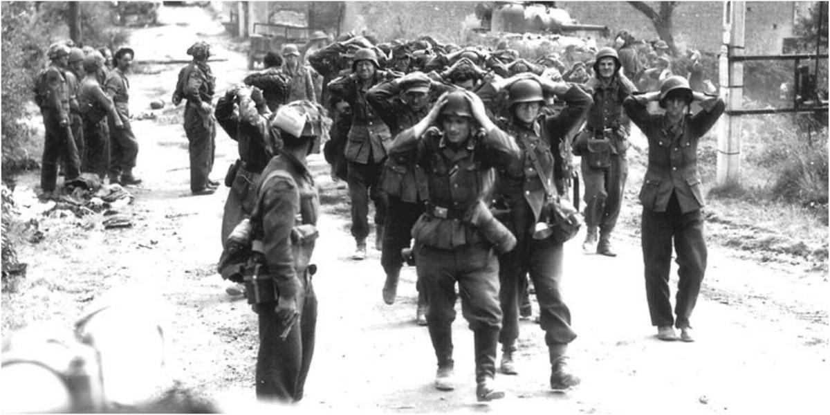 rendicion soldados alemanes normandia