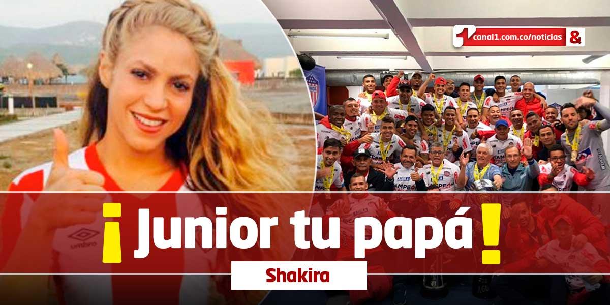 Shakira celebra la novena estrella del Junior de Barranquilla- Canal 1