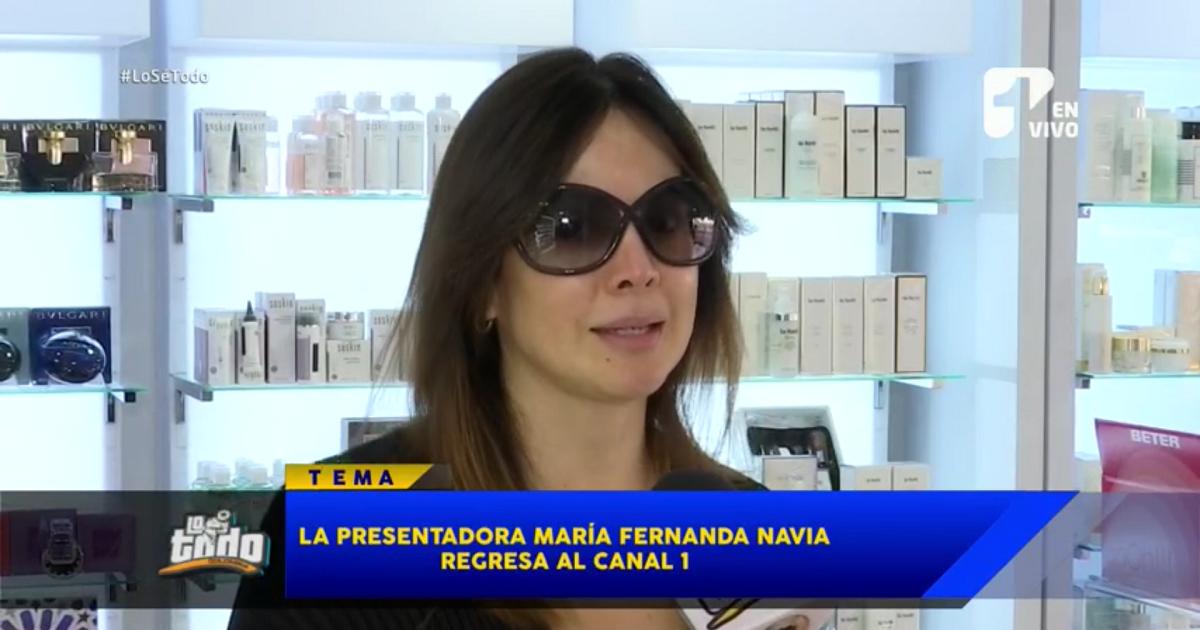 La presentadora María Fernanda Navia regresa al Canal 1
