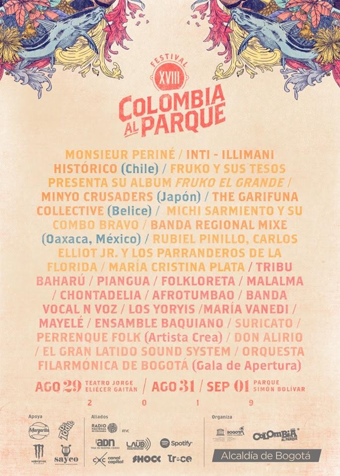 programacion festival colombia al parque 2019