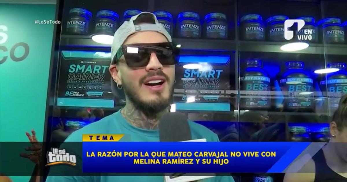 Mateo Carvajal confirma que no está viviendo con Melina Ramírez y su hijo