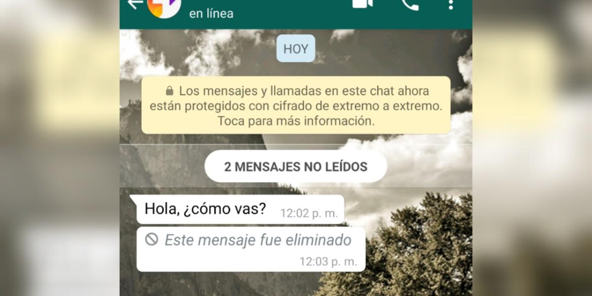 Cómo ver mensajes eliminados en WhatsApp y los riesgos que eso conlleva