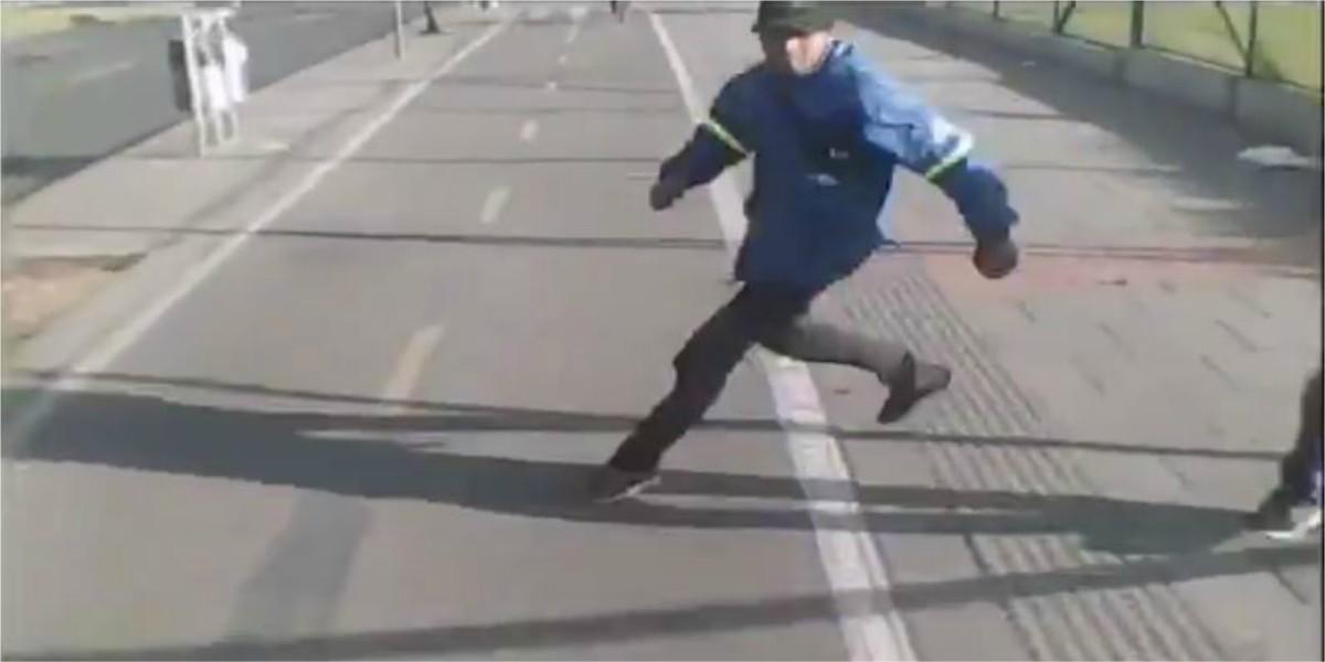 video bogota robo bicicleta a mujer localidad de suba