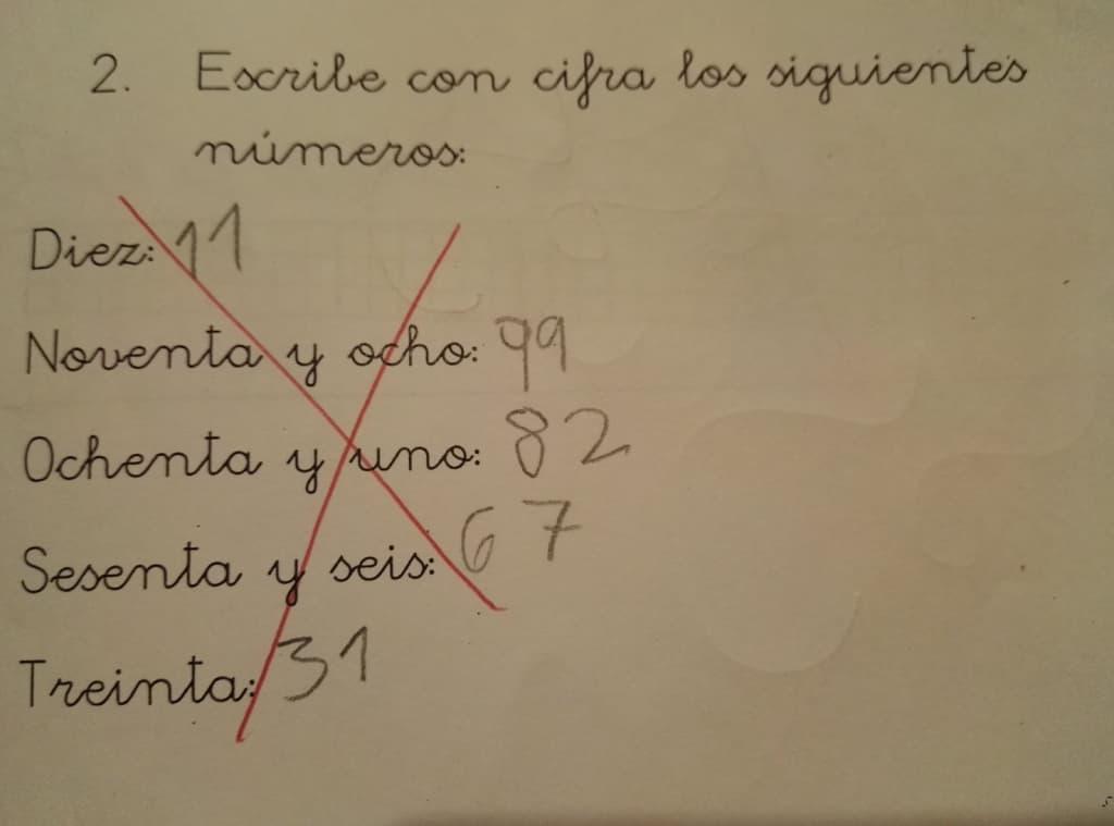 respuesta niño en examen