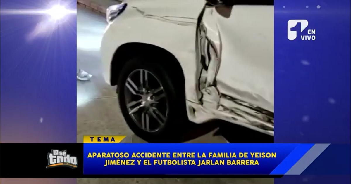 Aparatoso accidente entre la familia de Yeison Jiménez y el futbolista Jarlan Barrera
