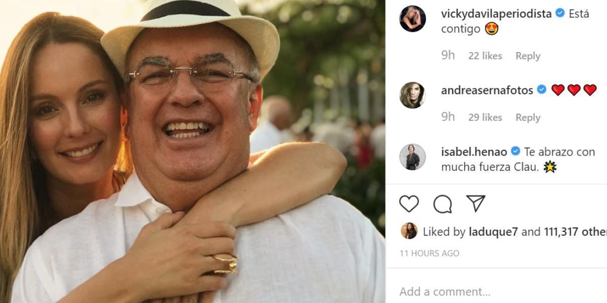 mensajea a claudia bahamon por cumpleaños de su padre