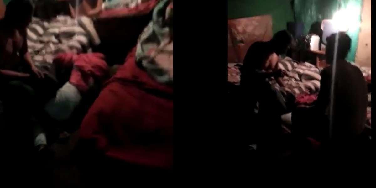 El reprochable video de un borracho golpeando a su esposa frente a sus hijos que indigna a las redes