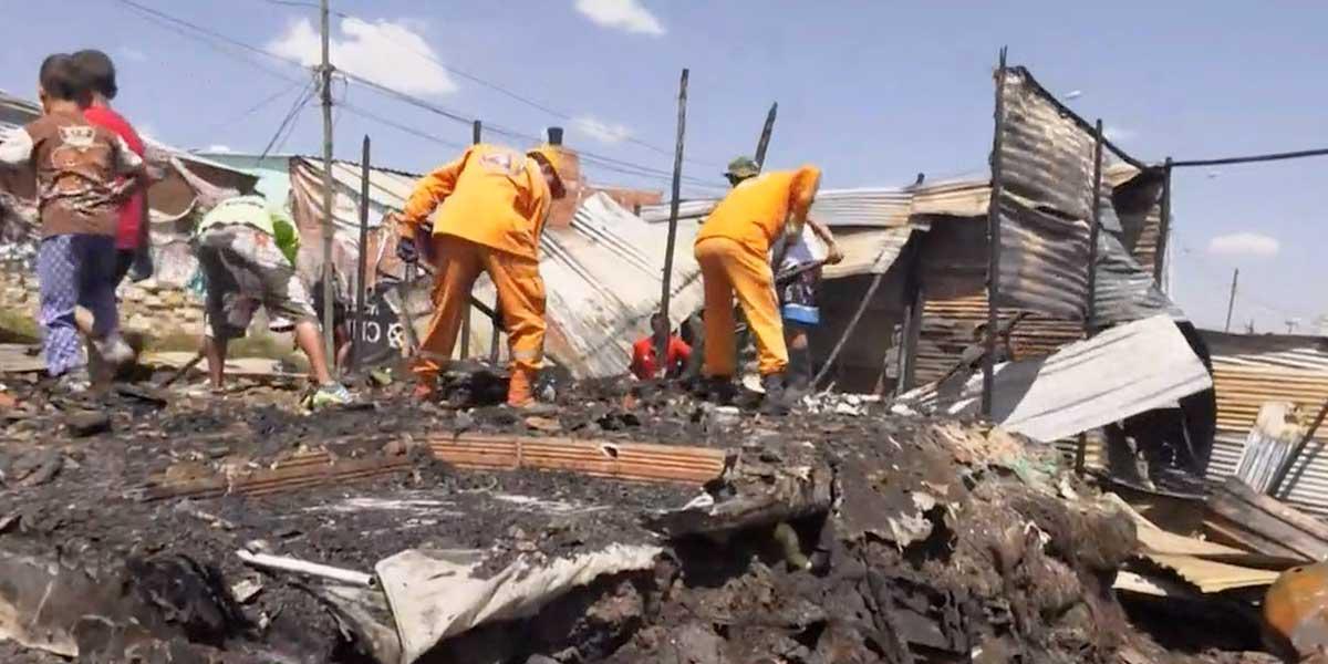 Incendio en Ciudad Bolívar dejó al menos 15 viviendas con pérdida total