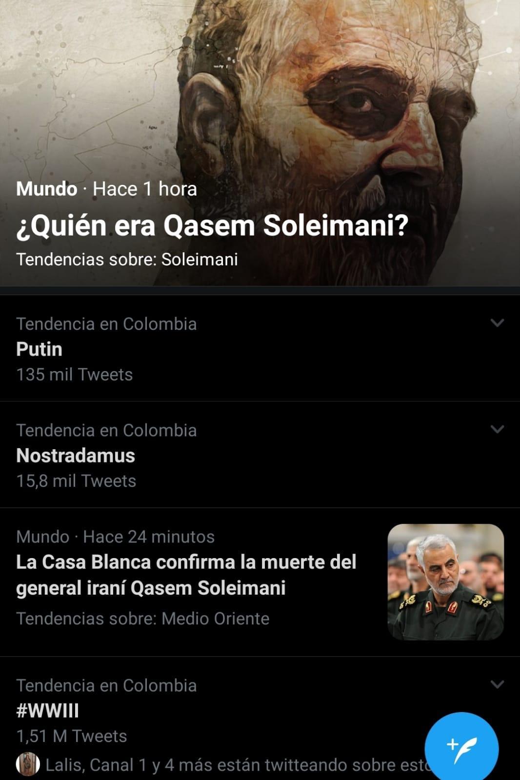 nostradamus tendencia en twitter por ataque de trump a iran