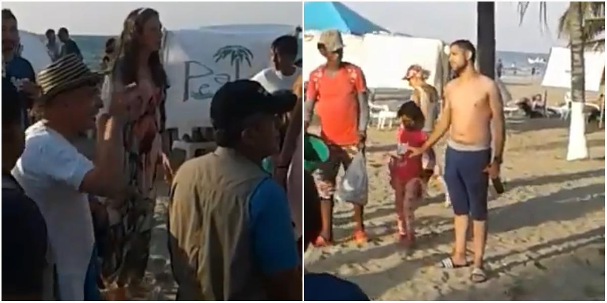 expresidente alvaro uribe insultos playa santa marta