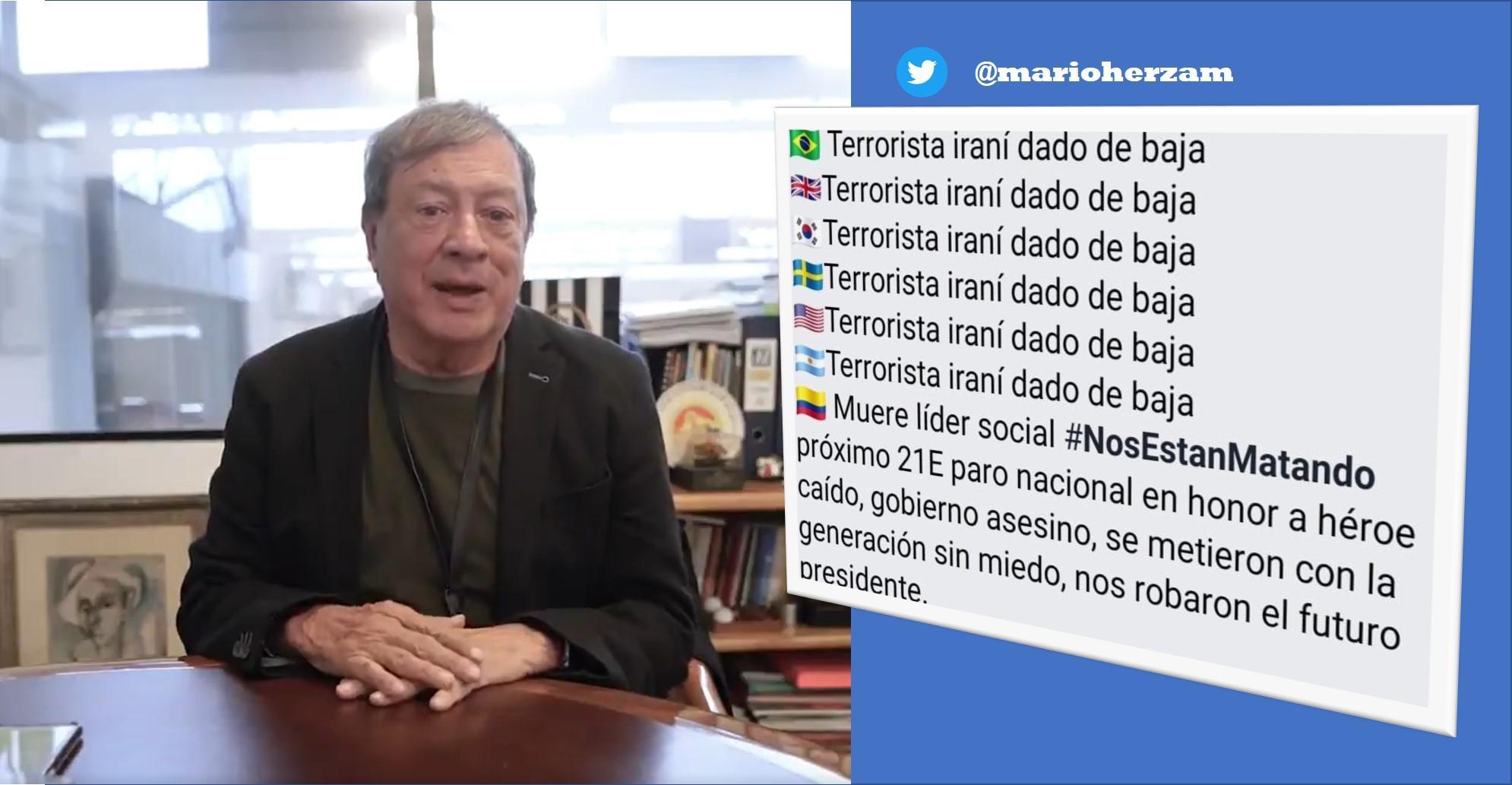 """""""Lo vi como algo informativo. Me equivoqué"""": Mario Hernández sobre trino acerca de líderes sociales"""
