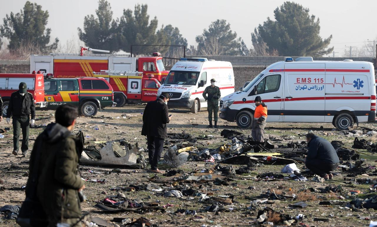 Avión accidentado en Irán