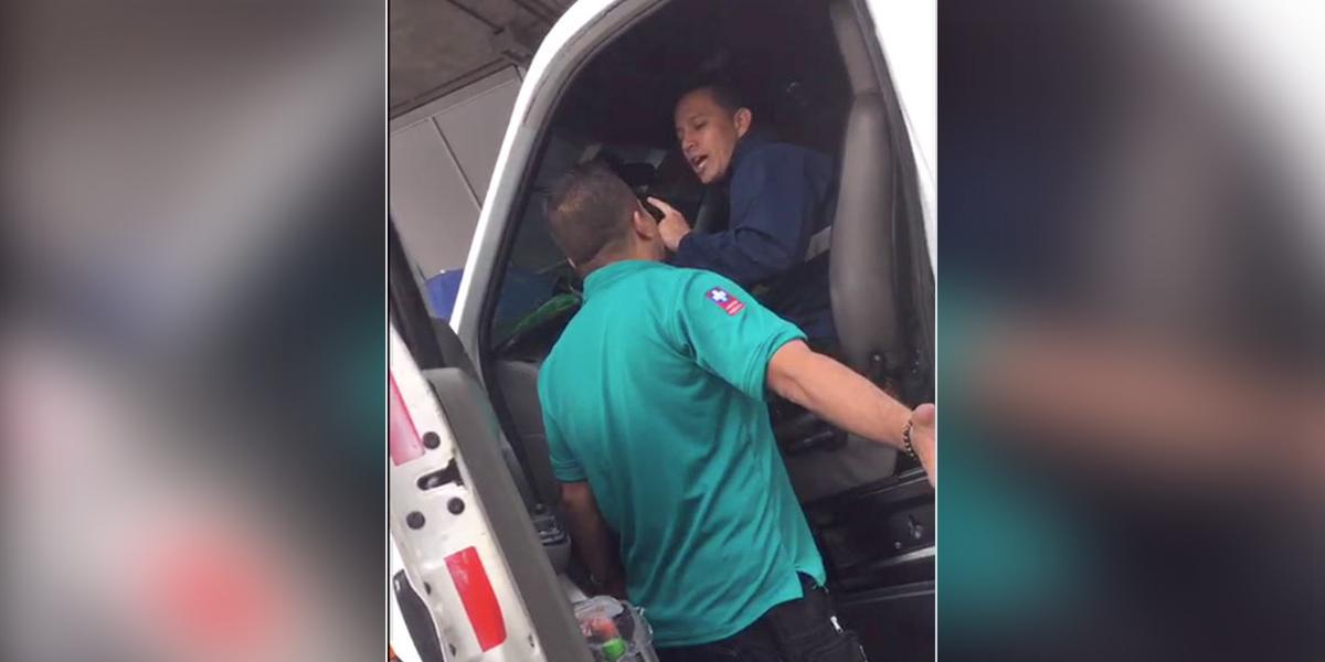 Ambulancias se disputan los pacientes a machete en Bucaramanga