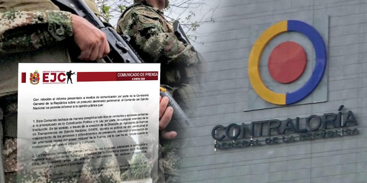 Ejército verificará presuntos hallazgos de corrupción señalados por la Contraloría