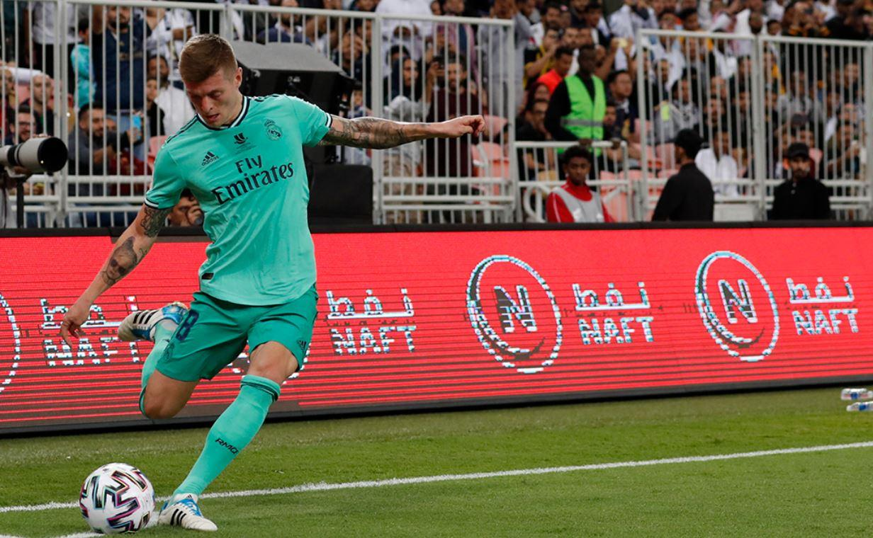 (Video) Toni Kroos clavó un gol olímpico en la Supercopa de España