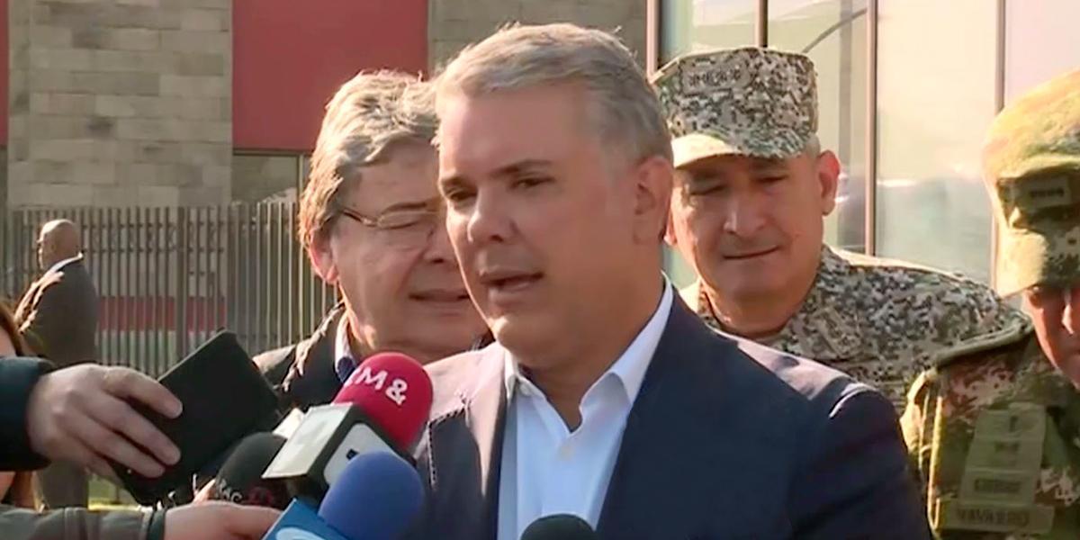 """""""Indicios apuntan a que el Eln está detrás"""" del atentado en Yopal: presidente Duque"""