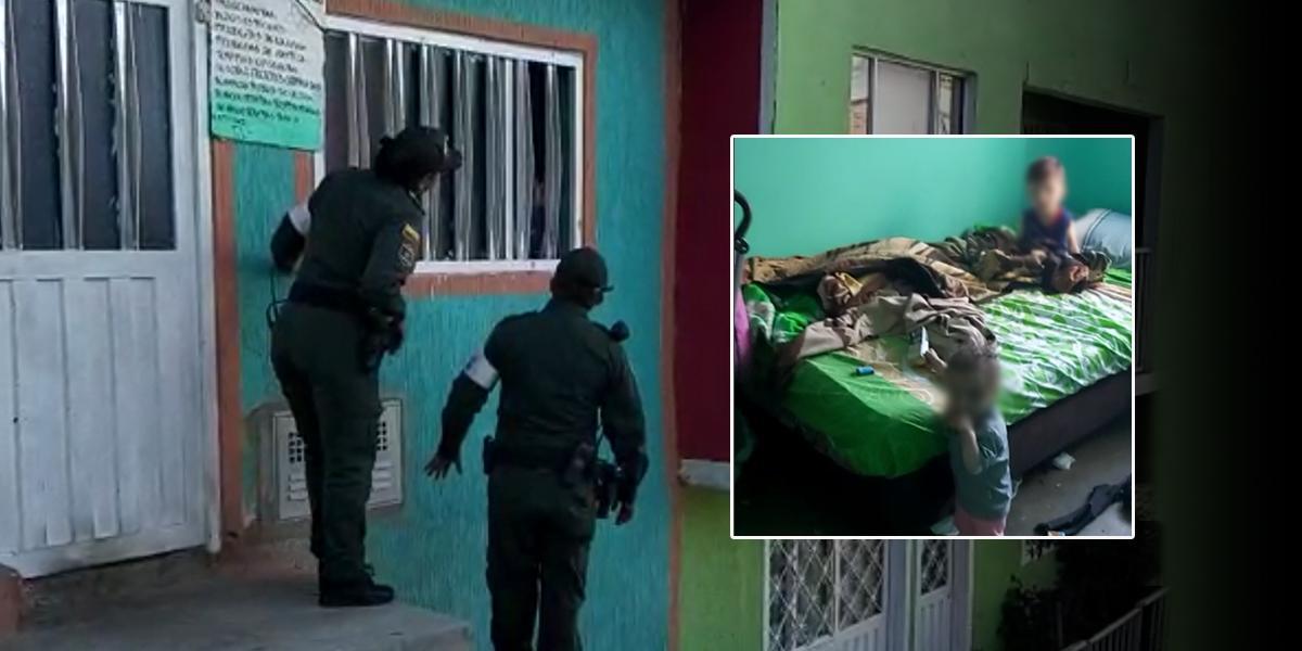 Hallan dos bebés de 9 y 18 meses en medio de vidrios y sustancias químicas en Ciudad Bolívar