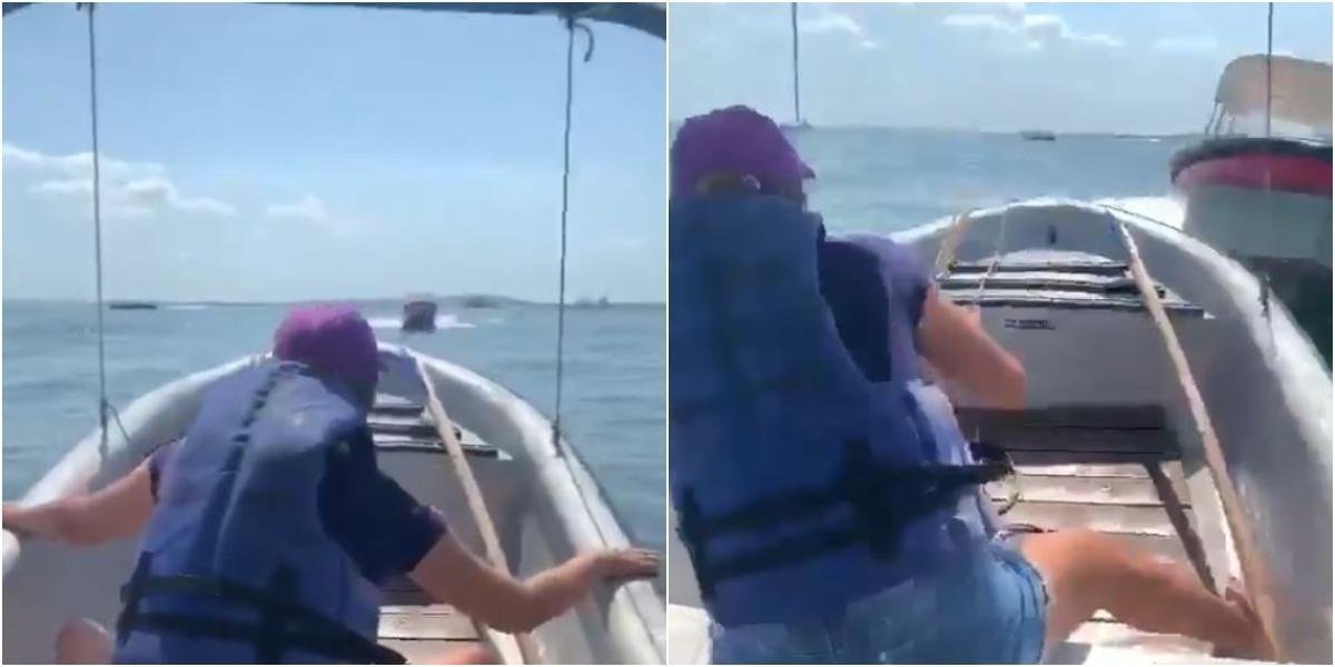 video dos lanchas chocan en cartagena