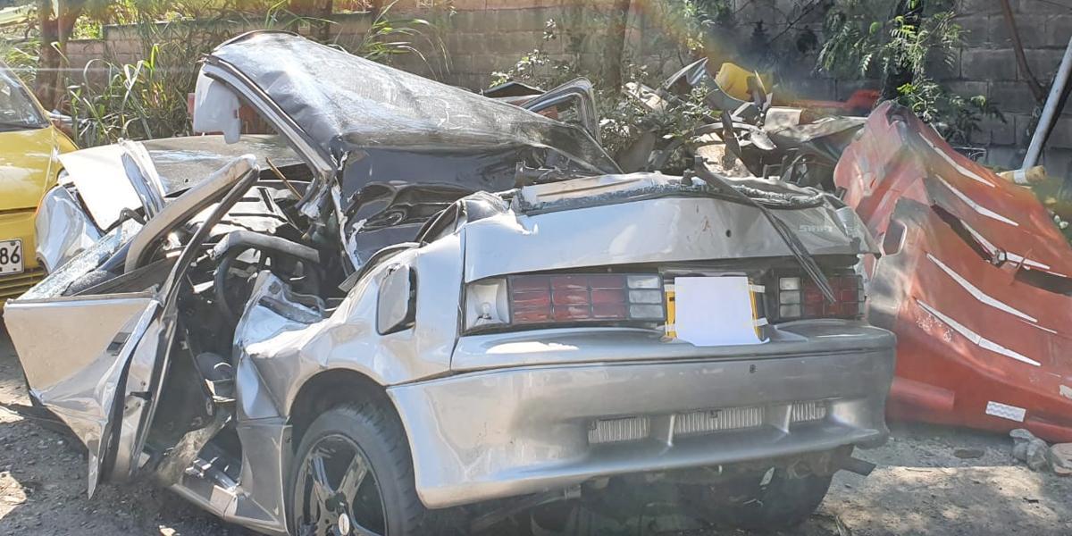 Piques ilegales: menor herido gravemente tras chocar carro en el que también iría su padre y tío