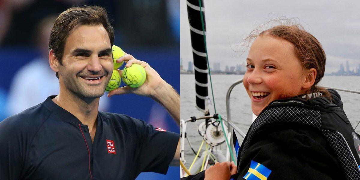 Greta Thunberg acusa a Roger Federer de no trabajar por el cambio climático y él responde