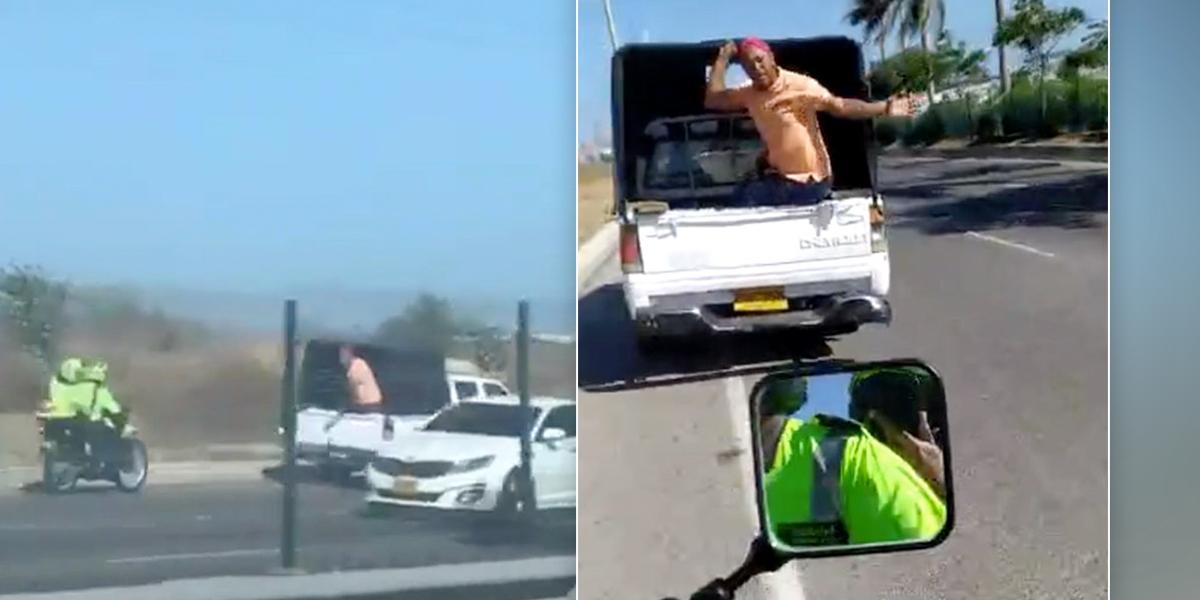 Con exceso de velocidad y en contravía, conductor huyó de puesto de control de la Policía en Barranquilla