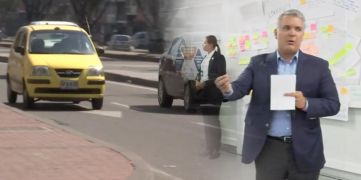 Presidente Duque respalda a taxistas y dice que el Gobierno no está atacando la tecnología