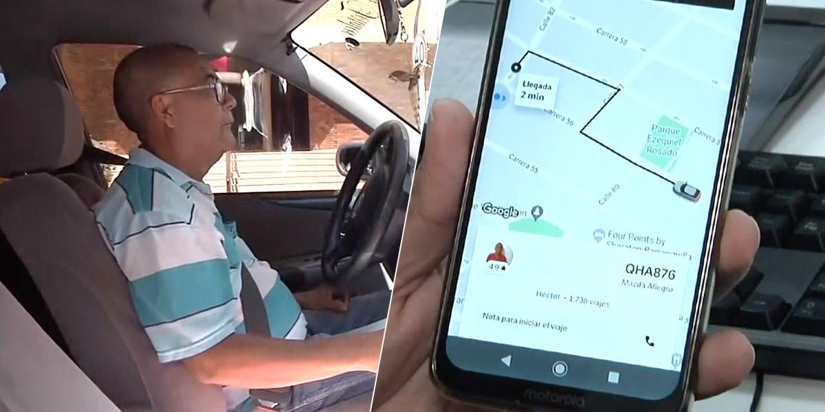 Hoy es el último día de Uber en Barranquilla: NotiCentro 1 CMI acompañó a un conductor