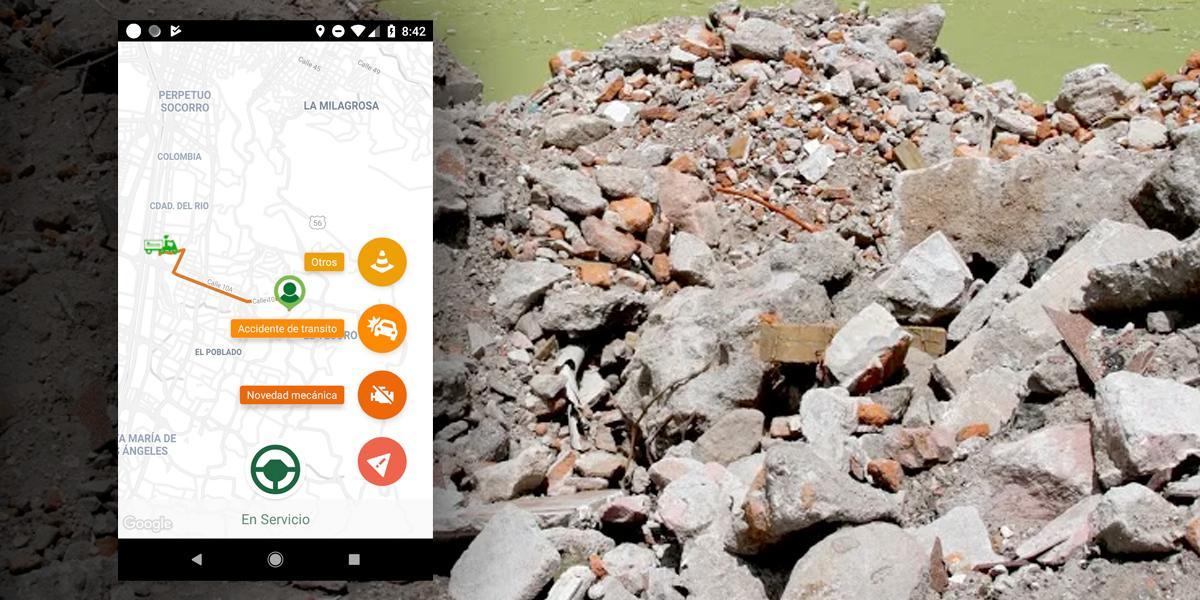 Crean aplicación para la recolección de escombros en Antioquia