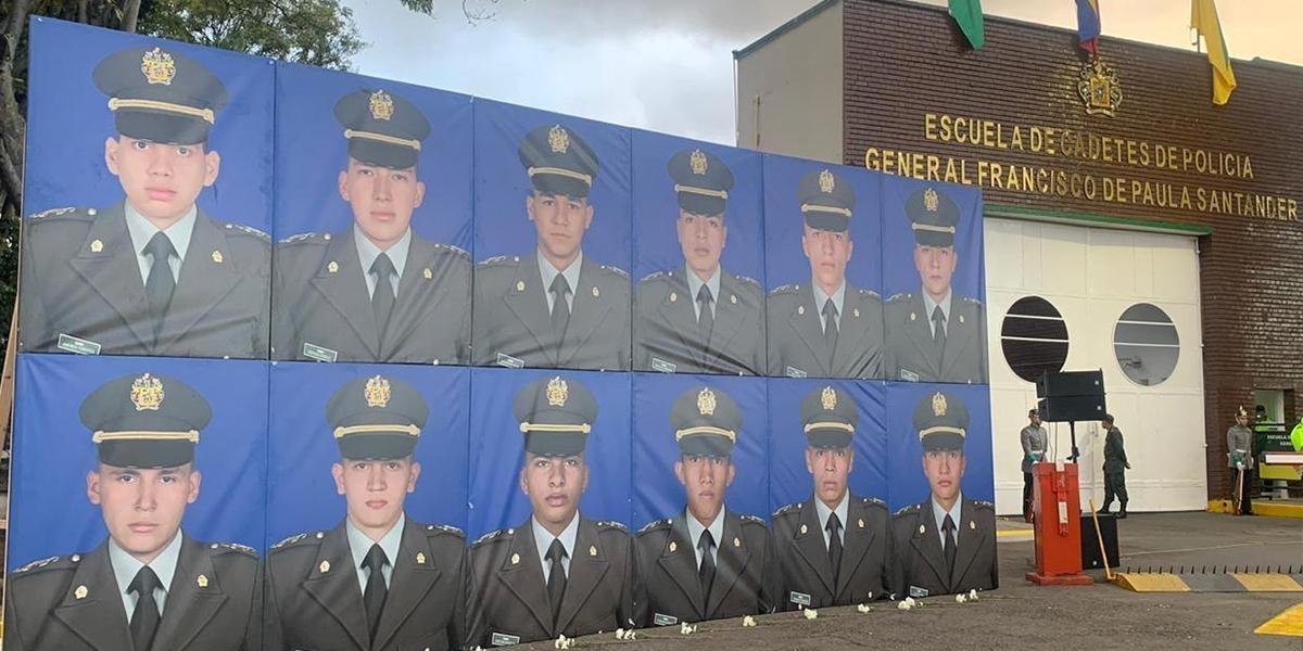 Homenaje en la Escuela de Cadetes General Santander a un año del ataque terrorista